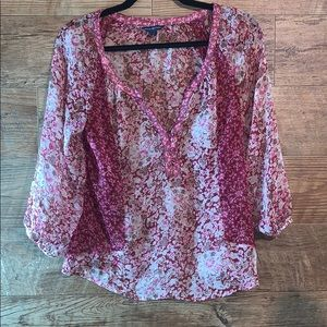 American Eagle outfitters small sheer 3/4 shirt